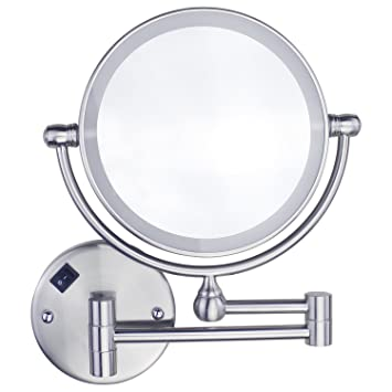 Amazon gloriastar 1x5x magnification led lighted wall mount gloriastar 1x5x magnification led lighted wall mount makeup mirrorbrushed nickel aloadofball Gallery