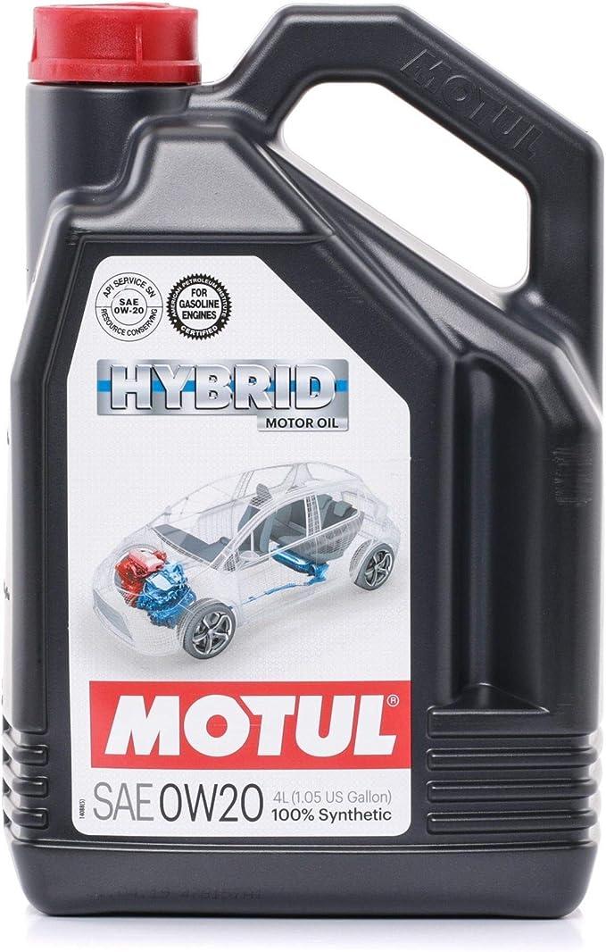 Motul 107142 74 Hybrid Lubricating Oil Engines Hybrid 0w20 4l Auto