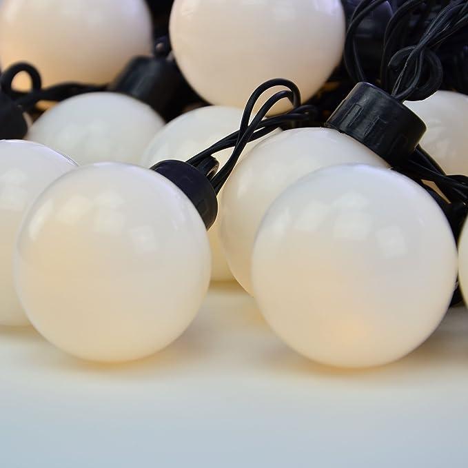 Guirnalda de 20 luces LED para fiestas y jardines, para exteriores: Amazon.es: Iluminación