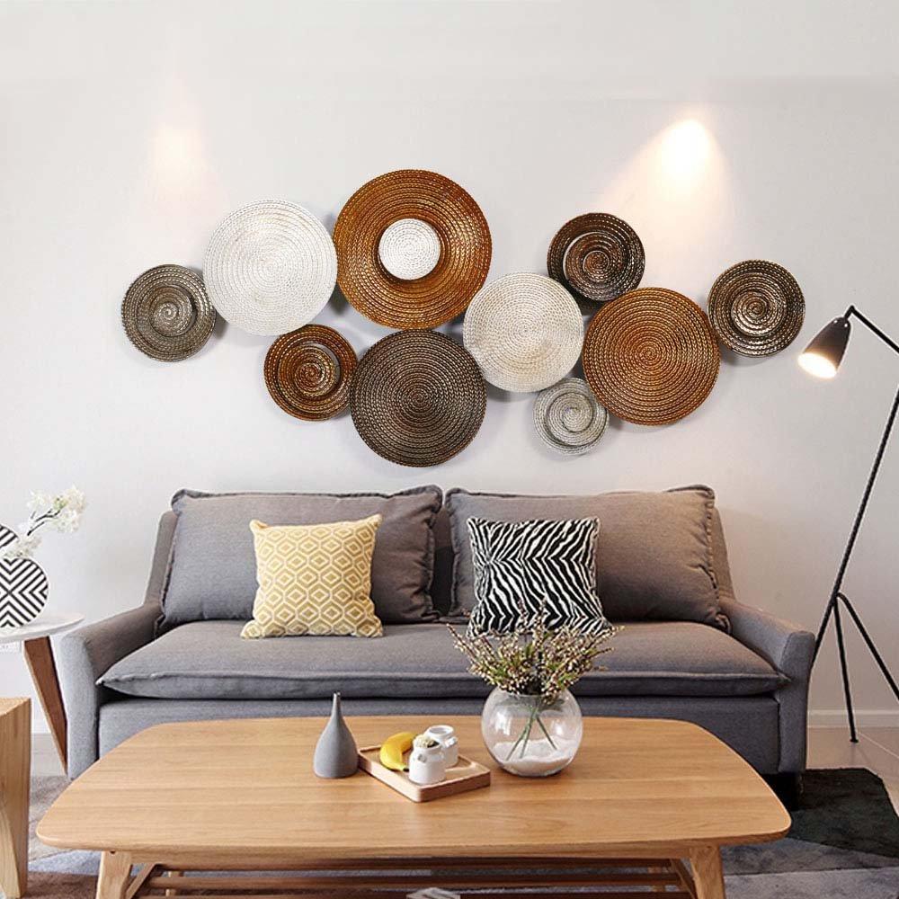 Wohnzimmer bilder fr hintergrund  Einfache Stil Kreative Eisen Wandbehänge Dreidimensionale Wand ...