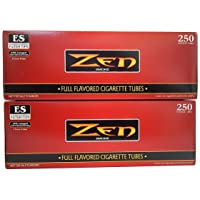 ZEN King Size Full Flavor Cigarette Tubes -2 pack, 250 ct per box