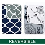 Divine Casa Reversible Abstract Microfibre Single Dohar Set of 2-Grey