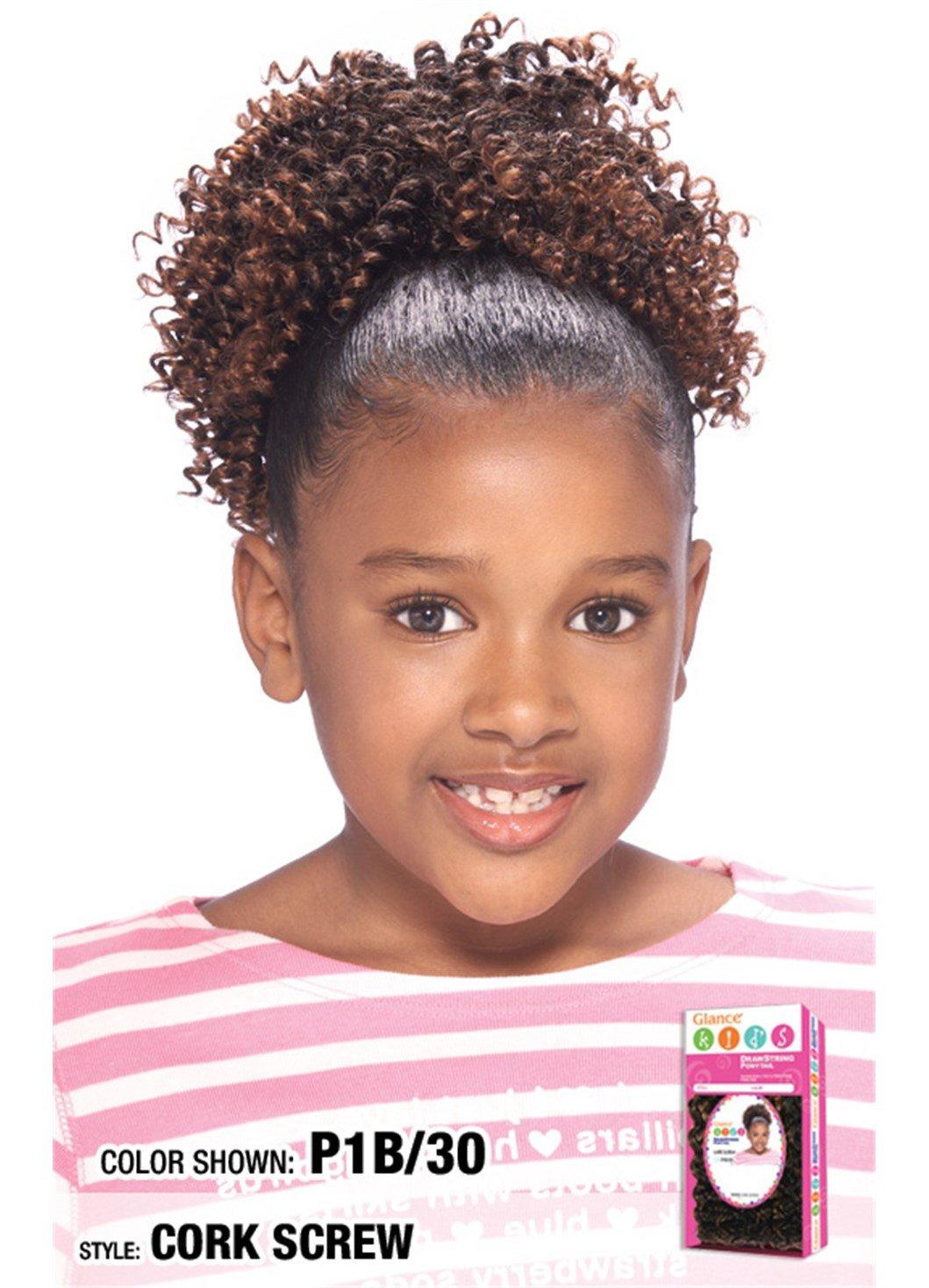 Amazon Com Model Model Glance Kids Drawstring Ponytail Cork Screw Color 2 Hairpieces Beauty