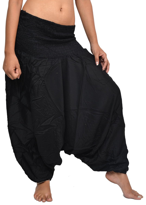 Wevez Women's Lot of 5 Plain Rayon Harem Pants, One Size, Assorted ST-161003