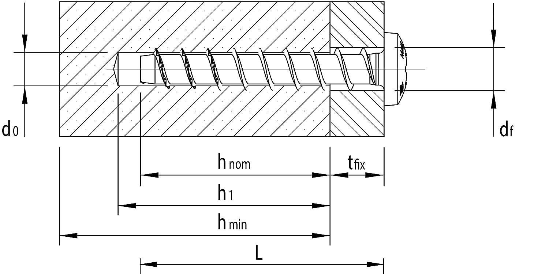 MULTI-MONTI-plus Betonschraube blau verzinkt Panhead mit TX 7,5x60-50 St/ück