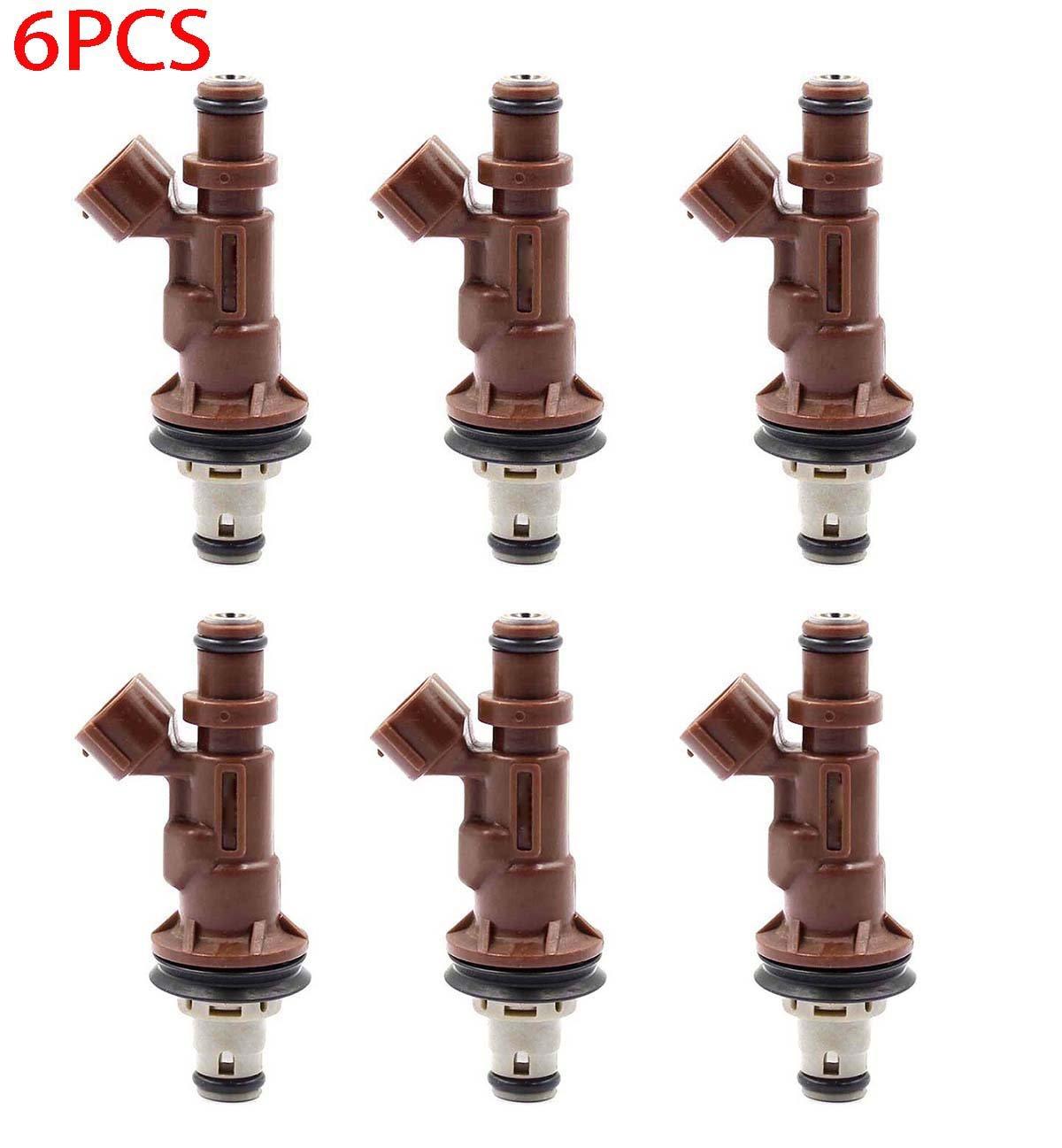 Goodeal 6pcs Fuel Injectors 23250 62040 For Toyota 2000 4runner Air Sensor Tacoma Tundra 34l V6 Automotive