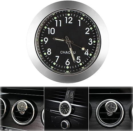 Onever Auto Uhr Auto Air Vent Quarzuhr Mini Fahrzeug Armaturenbrett Uhr 1 4 Durchmesser Beleuchtung