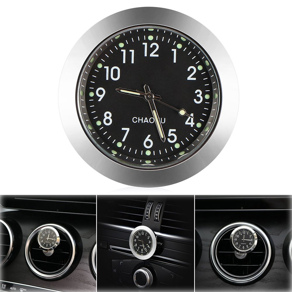 ONEVER Car Clock, Car Air Vent Quartz Clock Mini Vehicle Dashboard Clock, 1.7' Diameter 1.7 Diameter KP00321Y16NGA