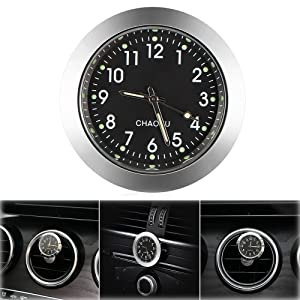 "Car Clock, ONEVER Car Air Vent Quartz Clock Mini Vehicle Dashboard Clock, 1.4"" Diameter"