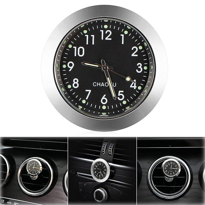 ONEVER Reloj de coche, rejilla de ventilación de coche, reloj de ...