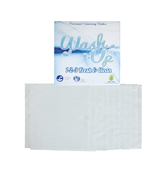 Amazon.com: Wash Up 1 2 3. Disposable Washcloths Aloe Vera Best Antibacterial Body Wash,10 units per package: Health & Personal Care