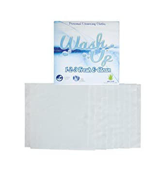 Wash Up 1 2 3. Disposable Washcloths Aloe Vera Best Antibacterial Body Wash,10