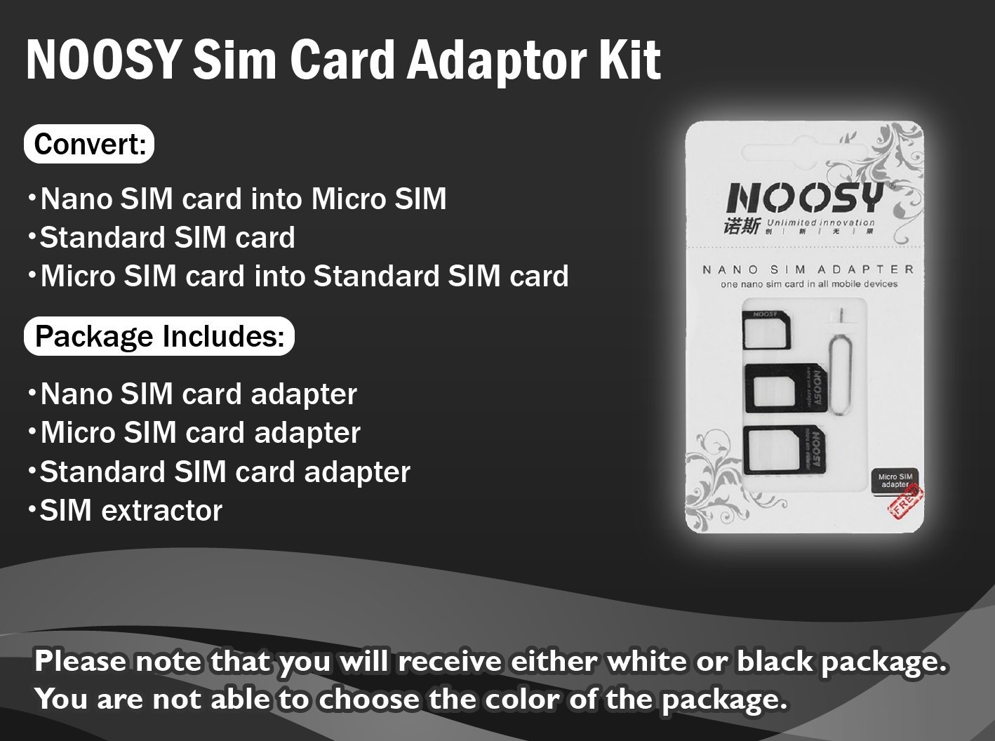 Noosy Sim Card Adaptor Kit Nano To Micro Regular Nossy With Extractor Cell Phones Accessories