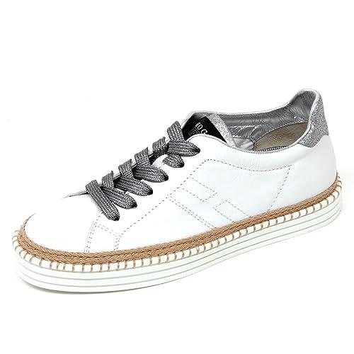 Hogan D0574 Sneaker Donna Rebel R260 Scarpa Bianco Shoe Woman  35.5   Amazon .it  Scarpe e borse 4ad8650e722