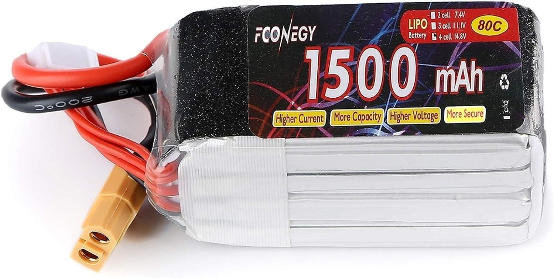 Fconegy 3S 11.1V 1500mah 80C Lipo Akku Lipo Batterie mit XT60 Stecker f/ür FPV//Drone//Quadcopters//RC Hubschrauber//RC Flugzeug