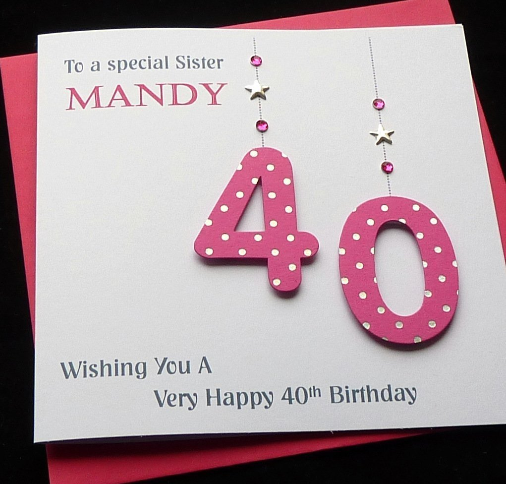 Handmade personalised hot pink age number birthday card 21st 30th handmade personalised hot pink age number birthday card 21st 30th40th50th60th70th80th mum sister auntie sister friend etc amazon handmade bookmarktalkfo Choice Image