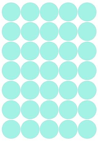 40 mm Farbton Water Lily matt 70 Deko Klebepunkte aus Design Folie Kreise Punkte Aufkleber
