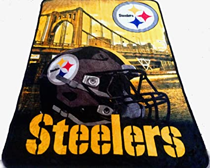 Image Unavailable. Image not available for. Color  Pittsburgh Steelers  blanket ... f0be0aa11