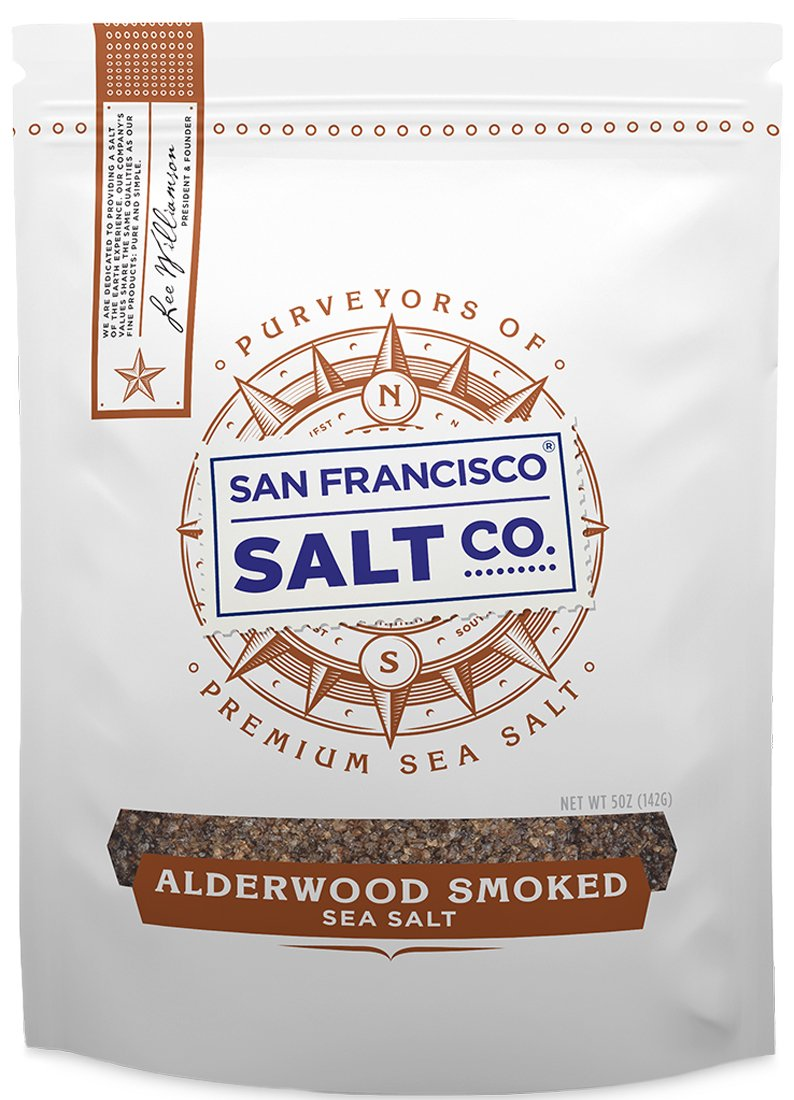 Alderwood Smoked Sea Salt - 5 oz. Sample Pouch Fine Grain