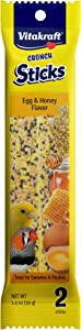 Vitakraft Crunch Sticks Egg & Honey Flavor Treats for Canaries and Finches, 1.4 oz