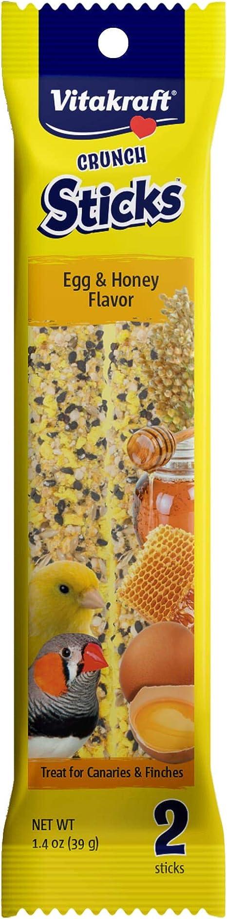 4 Count Vitakraft Triple Baked Crunch Sticks with Wild Berries /& Honey Guinea Pig Treat