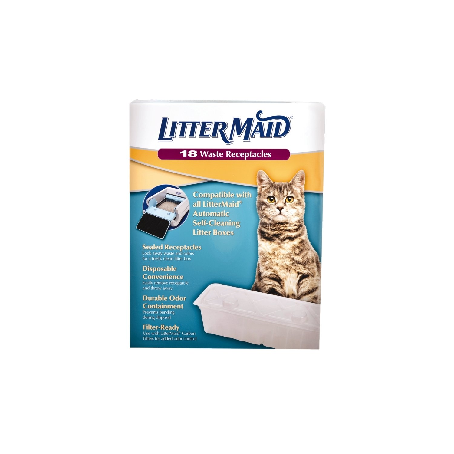 Amazon LitterMaid Disposable Sealable Waste Receptacles 18