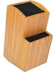 ETTU - Ceppo Portacoltelli Universale in bambù - Senza Fessure - Due Livelli - Extra Grande - 25,5 x 19,5 x 11,7cm