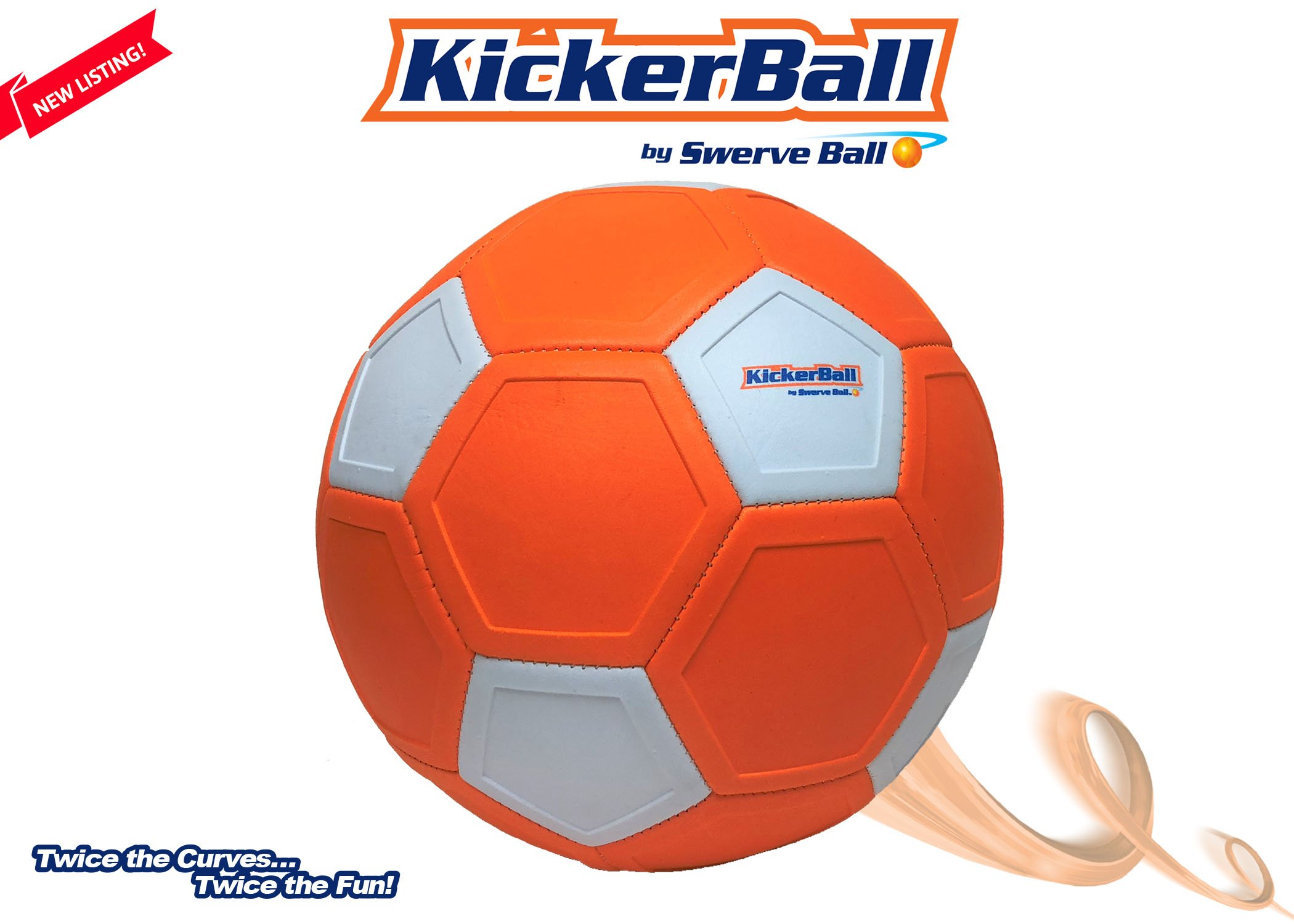 Kickerball - Curve & Swerve Soccer Ball with Pump by Kickerball