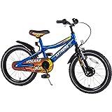 Kinderfahrrad Volare Extreme 18 Zoll Flammenoptik schwarz blau 4-7 Jahre
