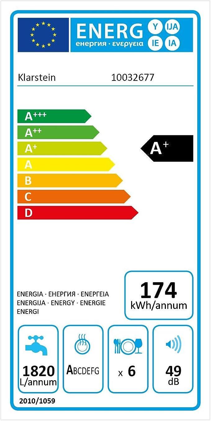 Klarstein Amazonia 6 Luminance - Lavavajillas, Modo ECO, Frontal ...