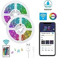 LuckLife WiFi LED Strip Lights, LuckLife 2M Waterproof Wireless Smart Phone App Controlled Light Strip Kit