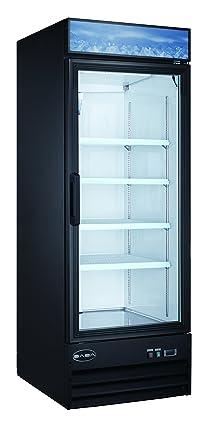 Single Glass Door Reach In Freezer Merchandiser Display Case