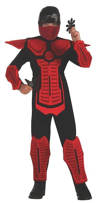 Amazon.com: Rubies - Disfraz ninja para niño, color rojo, M ...