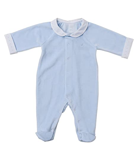 Laranjinha Pelele larga cuello bebé 9 M 0M azul claro