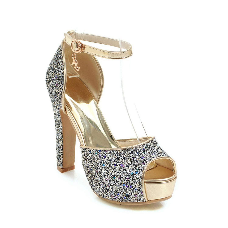 e22a4e16dca Amazon.com | Women Sandals Super Square High Heel Fashion Women ...