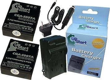 Amazon.com: 2 x Pack – Panasonic Lumix DMC-TZ3 de la batería ...