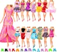 Barwa Lot 22 = 12 Pcs Fashion Dresses Outfits Clothes Summer Dress and 10 Pairs Shoes for Dolls