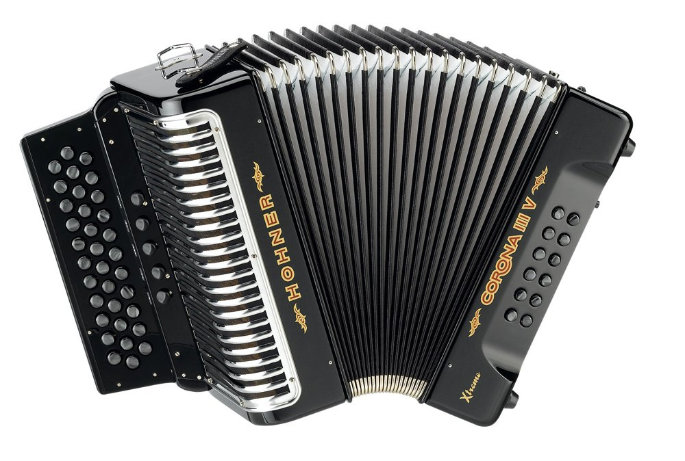 Hohner Corona II Xtreme GCF, Black by Hohner Accordions