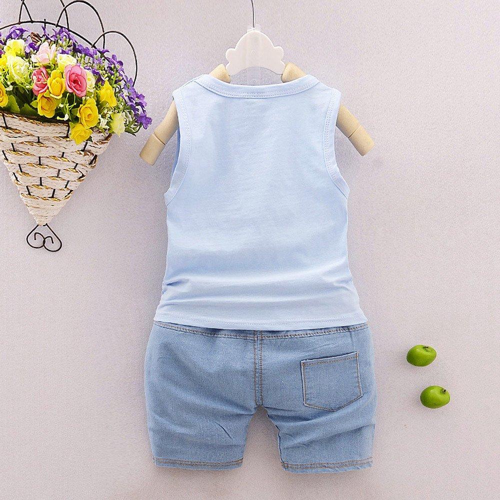 Fine 2Pcs Infant Baby Boys Girls Star Letter Tops Vest+Shorts Outfits Clothes Set