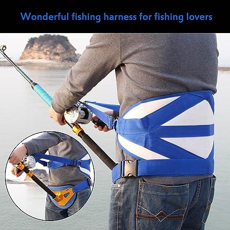 Big Fish - Arnés de pesca con cinturón acolchado para pesca, pesca ...