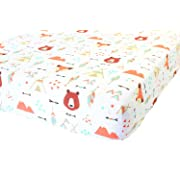 100% Organic Cotton Fitted Crib Sheet by ADDISON BELLE - Premium Baby Bedding - Soft, Breathable & Durable (Crib Sheets Boy - Fox)