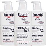 Eucerin优色林宝宝沐浴洗发露 13.5液体盎司(400毫升)(3件装)