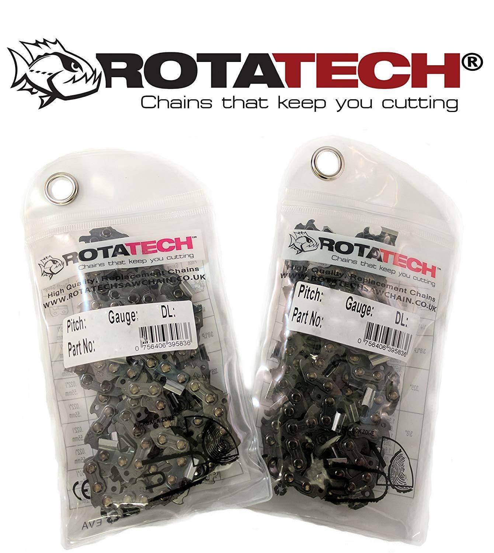 Verdadera rotatech Sierra de cadena 35/Cm Adecuado para Stihl 018/MS180/Paquete con dos Motosierra