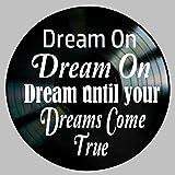 Dream On Song Lyric Art inspired by Aerosmith Vinyl