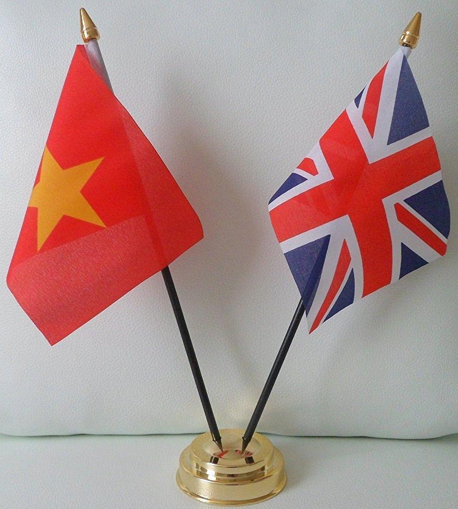Adorno de mesa de amistad con banderas de Vietnam y del Reino ...
