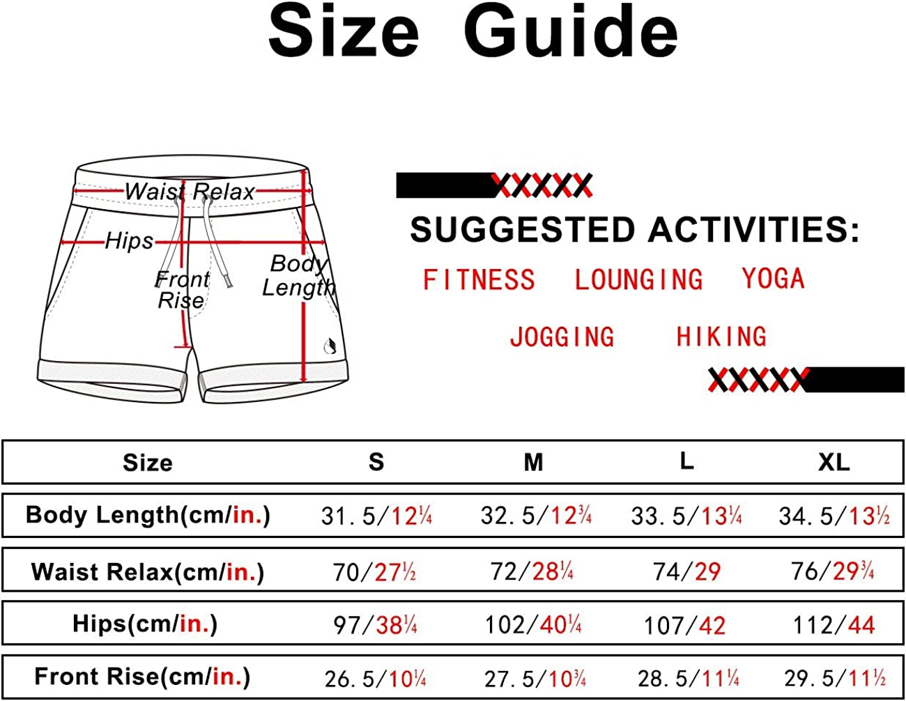 icyzone Workout Lounge Shorts for Women - Athletic Running Jogging Cotton Sweat Shorts(Pack of 2): Clothing