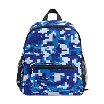 41905192b63c Luggage Backpack Girls School Bag Boys Packs Book Purse for Toddler Children  3 4 5 6 7 8 Year Old Kids Travel Blue Camouflage Camo  Amazon.co.uk  Luggage
