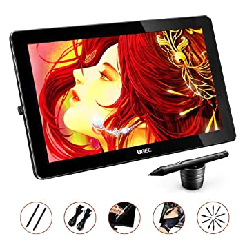 Ugee HK1560 15 6 Inches IPS Screen HD Resolution Graphics Monitor with 2  Rechargeable Pen and 1 Drawing Glove