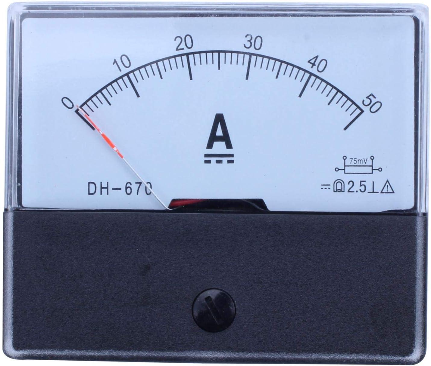 SNOWINSPRING Dh-670 Amp/èrem/ètre Amp/èrem/ètre Amp/èrem/ètre Analogique Pr/écision Dc 50A