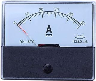 Cikuso Dh-670 Amperemetro Amperometro Amperometro Del Pannello Analogico Dc 50A